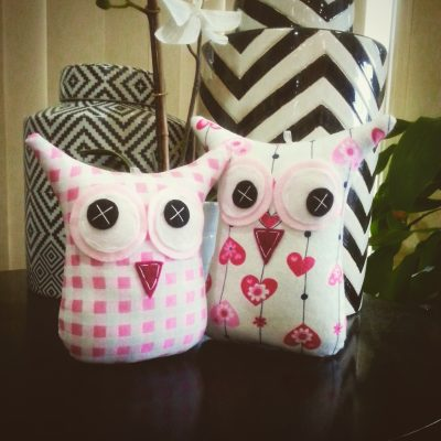 Pink Hearts and Checkered | MiniMe Owl Set