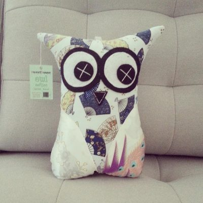 Silk Asian Print | 26cm Owl