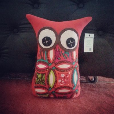 Red Floral | 26cm Owl