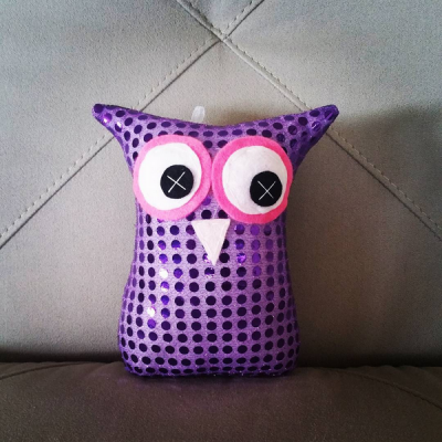 Purple Bling | 18cm Owl