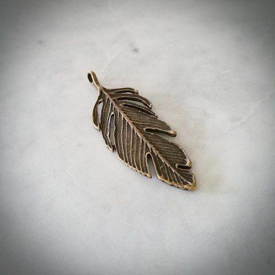Bronze Feather Pendant