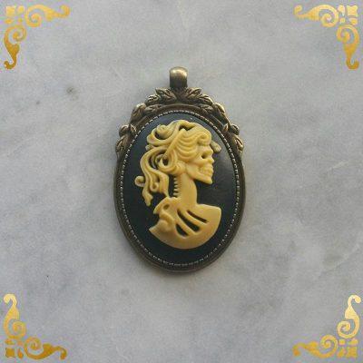Copper Baroque Skull Pendant