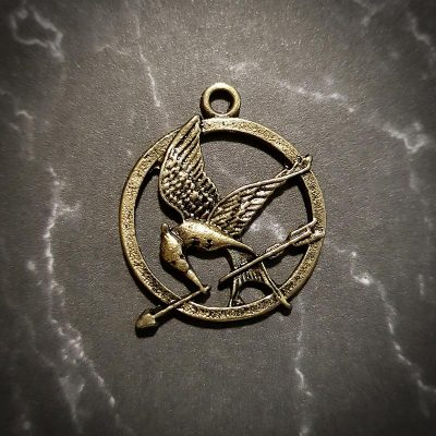 Hunger Games Gold Pendant Charm Icon