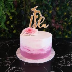 """Name"" Personalised Girls Cake Topper with image"